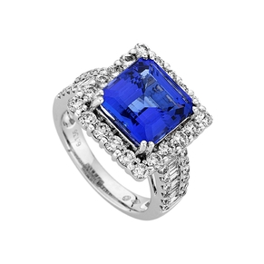 Coloured Stone Engagement Ring